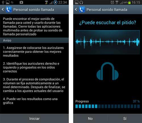 Ajustar el sonido de las llamadas Galaxy S3