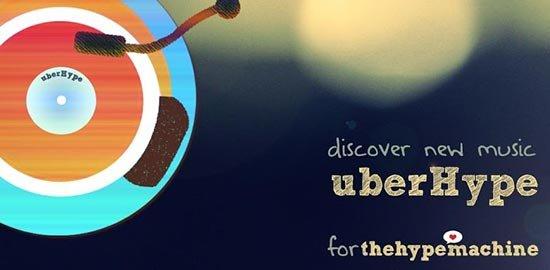 Las mejores aplicaciones para escuchar música en tu Android: UberHype for Hype Machine
