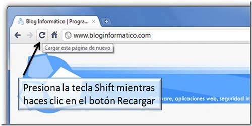Trucos para Google Chrome: borrar caché