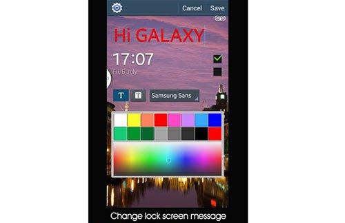 Cambiar el texto de la pantalla de bloqueo