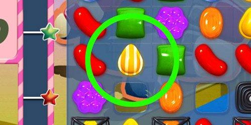 Fíjate en la disposición de los caramelos rayados