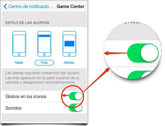Controlar las notificaciones en iOS 7