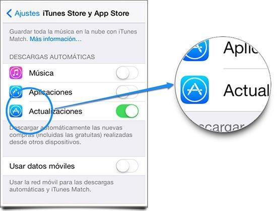 Desactivar las actualizaciones automáticas en iOS 7