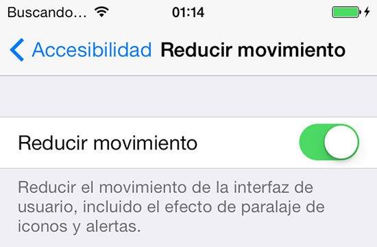 Desactivar el efecto Parallax en iPhone 4 y 4S